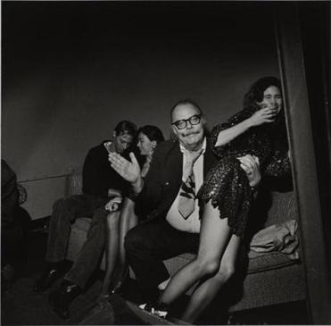 "Larry Fink's ""After Hours Club, New York City, April 1990."""