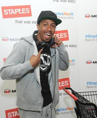 Nick Cannon promoted back-to-school sales at a New York store in July.