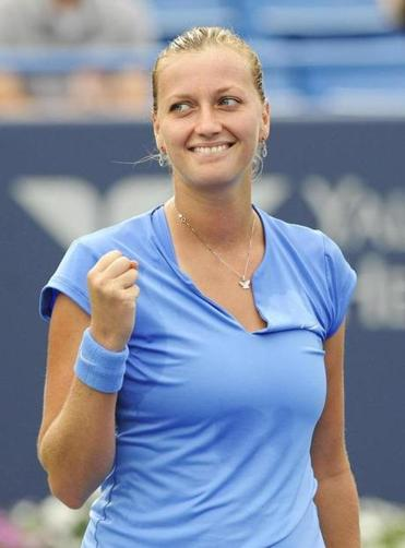 Petra Kvitova wasted no time clinching a spot in Saturday's title match.