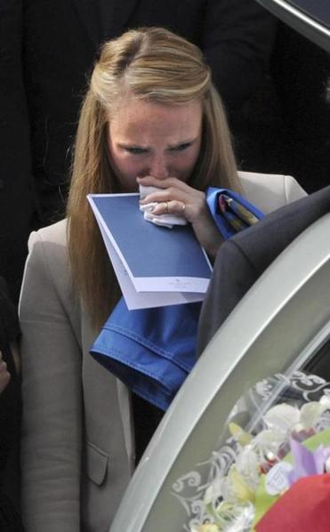 Sarah Harper, the American girlfriend of Chris Lane, attended his funeral in Australia.