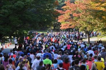 The B.A.A. Half Marathon, scheduled this year for October 13, guides runners through Boston's Emerald Necklace.
