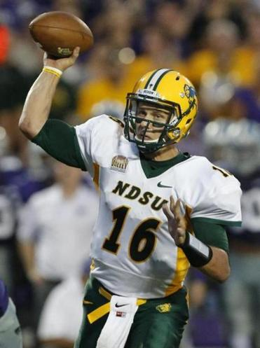 North Dakota State quarterback Brock Jensen passed for two touchdowns and rushed for the game-winning score.
