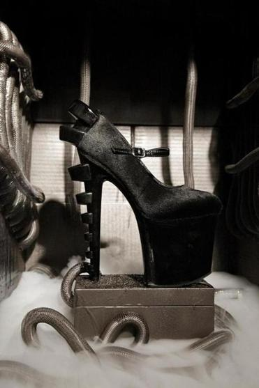 Solo launched his own line of shoes in 2008 and his newest collection, called Giger (pictured), was the focus of a recent Boston runway show.