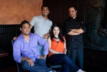 From left: General Manager Mahesh Shahi, owner Solmon Chowdhury, owner Rokeya Chowdhury, and chef Anand Pokhrel.