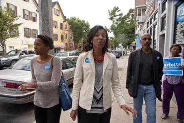 Golar Richie campaigned with her daughter Kara and husband, Winston Richie, last week.