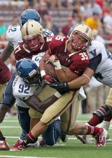 Tyler Rouse (35) scored Boston College's lone touchdown at USC.