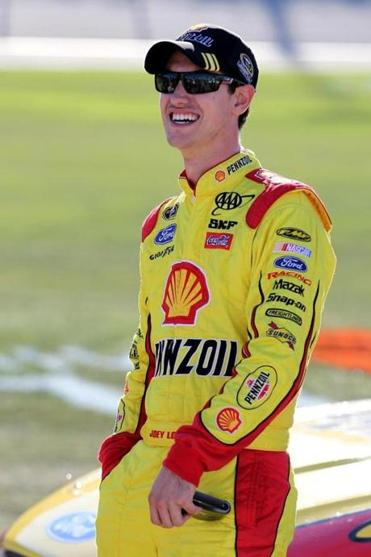 Driver Joey Logano qualified for the Chase for the Sprint Cup, but Logano's Penske Racing team is on probation.