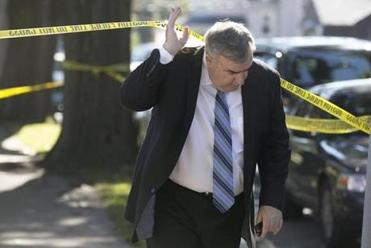 Boston Police Commissioner Edward F. Davis visited the scene.