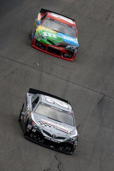 It was a case of second race ends just like the first for Kyle Busch, who fol-lowed Matt Kenseth to the finish line in Sunday's Sprint Cup race at Loudon.