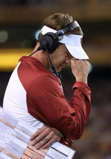 Lane Kiffin's tenure at Southern Cal ended after a blowout loss at Arizona State that left the Trojans 0-2 in the Pac-12.