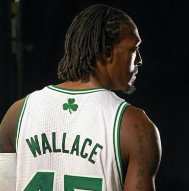 """I'm actually happy to be here in Boston,"" Gerald Wallace said in his first comments to the media since the trade was agreed upon on draft night."