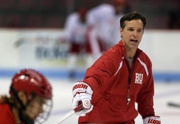 New BU hockey coach David Quinn has big shoes to fill, but the guy he is succeeding, Jack Parker, believes he will be more than up to the task.