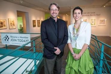 Museum director Nick Capasso  with associate curator Mary Tinti.