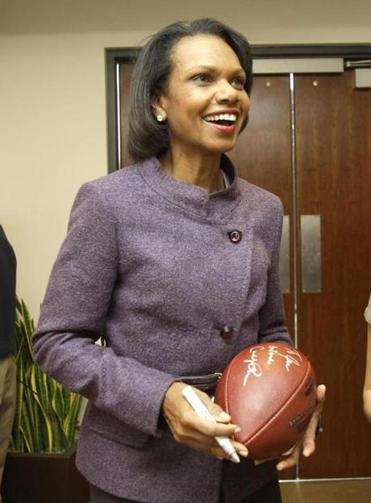 Because she is a woman, some snap judgments were made about Condoleezza Rice's knowledge of football.