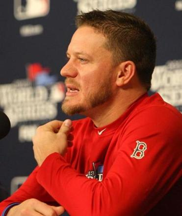 Jake Peavy spoke with the media Friday before the Red Sox workout at Busch Stadium in St. Louis.
