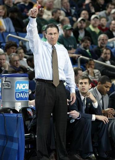 """The guy who gets the least amount of credit is Todd Lickliter. From my perspective, there's no way I'd be where I am without him,"" said Brad Stevens, (second from right), on Lickliter (left, shown coaching Butler during a 2007 NCAA Tournament game)."