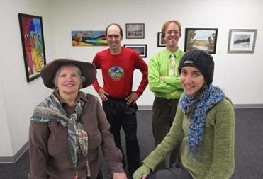 From left: Anastasia O'Melveny, Andrew Novis, Christopher Pereto and Karen Lean Boyd will have their art work shown at Asperger's Association of New England during Open Studios weekend in Watertown.