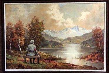 A $50 painting from a Manhattan thrift shop, to which Banksy added the Nazi soldier and then recently sold in a benefit auction for $615,000.