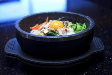 "The ""dolsot bibim bap"" at Sapporo Korean Barbecue and Sushi in Westborough"