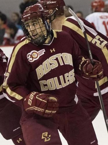 BC's Johnny Gaudreau's 5-game scoring streak ended.