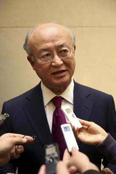 IAEA Director General Yukiya Amano on Monday discussed  the progress of nuclear talks with Iran.