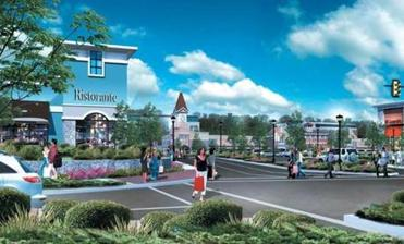 The retail complex for the University Station project is shown in this rendering.