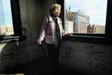 Lindalyn Adams looked down from the seventh floor of the Texas School Book Depository, one floor above where Lee Harvey Oswald fired his rifle.