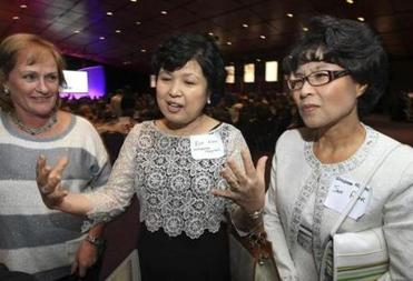 Nurses Julie Christopher, Eun Kim, and Sun Park were  among those honored at the event.