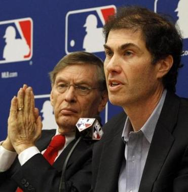Michael Weiner and Bud Selig, the commissioner of baseball, in New York.
