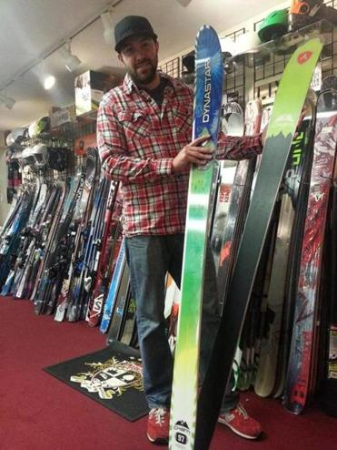 Mike Murphy of Sportworks estimates he sells only one snowboard for every 25 sets of skis.