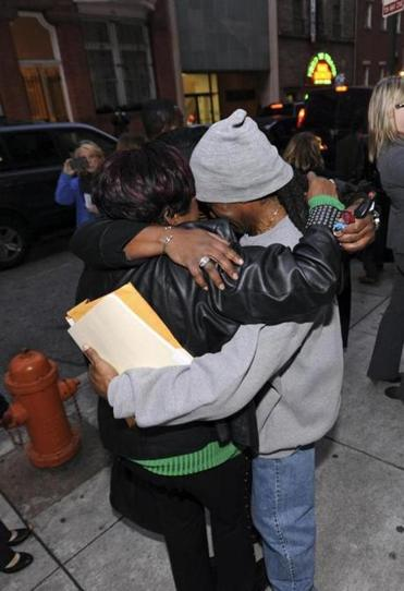Michael Person, who served 39 years in prison after being convicted in the slaying of a bartender, hugged family members when he was released in Baltimore recently.