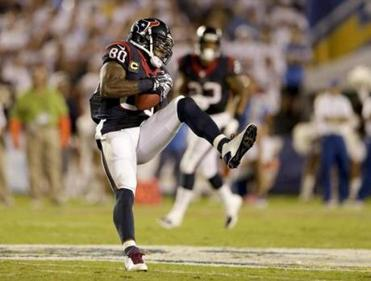 Andre Johnson is a very large and very mobile target. (AP Photo/Gregory Bull)