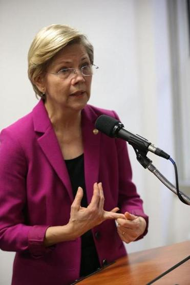 """I pledge to serve out my term,"" said Senator Elizabeth Warren, whose political future has been the subject of intense speculation."