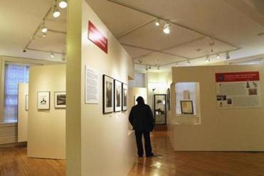 An exhibit at the Abiel Smith School on Beacon Hill.