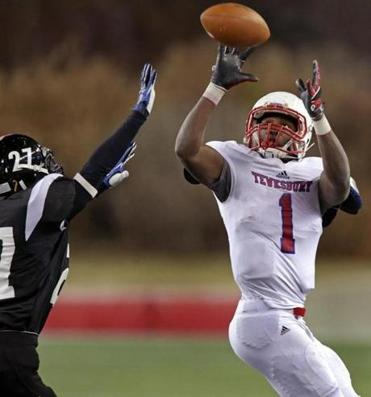 Tewksbury's Eddie Matovu hauled in a pass on a touchdown drive in the first half.