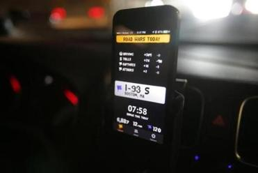 The Road Wars app awards users virtual coins if they do not exceed the speed limit.