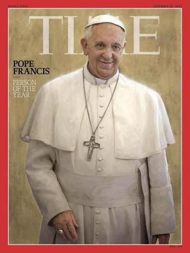 Time Magazine said the pope has changed the perception of the Roman Catholic church in an extraordinary way in a short time.