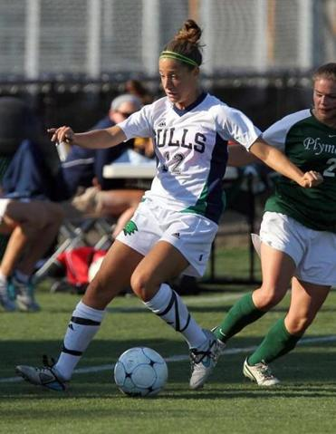Lauren Todd on the soccer field for Endicott College.