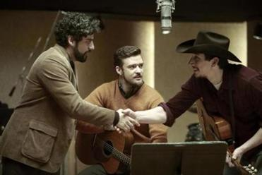 "Justin Timberlake (above) in ""Inside Lleywin Davis"" and Paul Clayton."