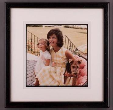 A photograph of Jackie Kennedy and daughter Caroline taken by Jacques Lowe in 1960 in Hyannis Port.