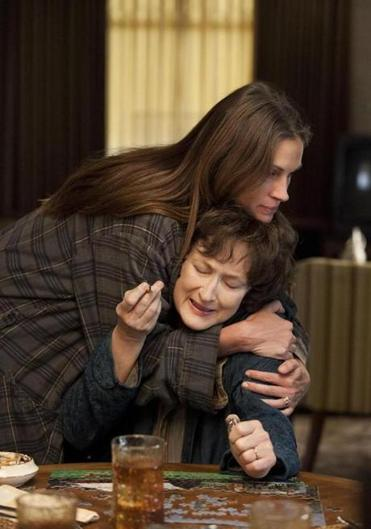 "Julia Roberts with Meryl Streep in ""August: Osage County."""