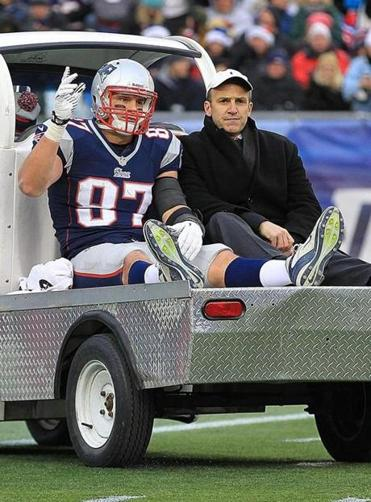 Rob Gronkowski's knee injury on Dec. 8 knocked him out for the rest of the season.