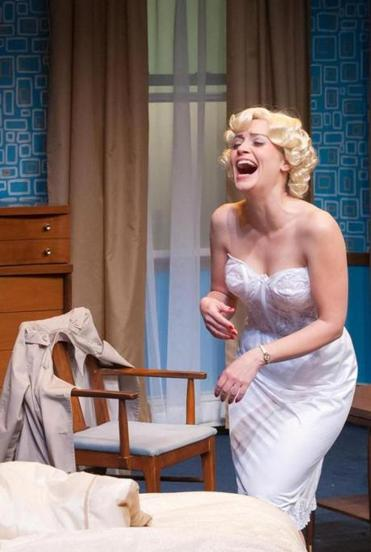 "Stacy Fischer in the Nora Theatre Company's ""Insignificance."""