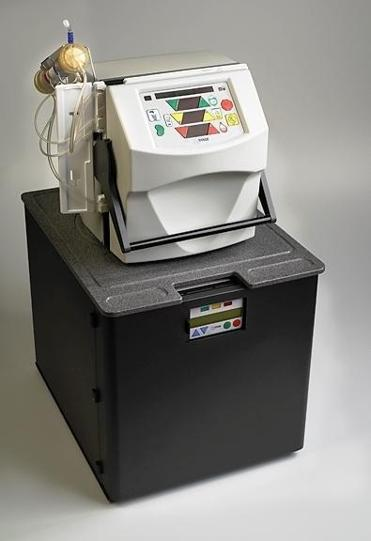 A NxStage home hemodialysis machine.