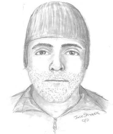 Sketch of suspect released by Somerville police