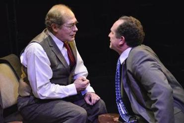 "Joel Colodner (left) and Jeremiah Kissel in ""Imagining Madoff."""