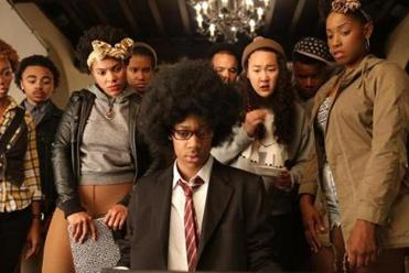 "Below: ""Dear White People,"" a campus comedy about race by writer-director Justin Simien."