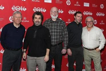 "From left: David Boeri, Joe Berlinger, J.W. Carney Jr., Hank Brennan, and Steve Davis attended the premiere of ""Whitey: United States of America v. James J. Bulger."""