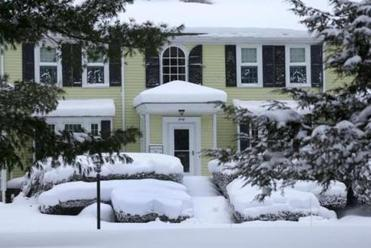 The Nathaniel Sylvester home 1743 has seen many snowstorms in Hanover.