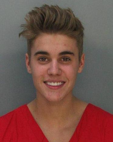 The Miami Beach Police Department released this photo of pop star Justin Bieber.